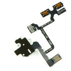 Шлейф боковой iPhone 4 с разъемом под наушники и кнопками громкости