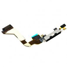 Шлейф зарядки iPhone 4S черный