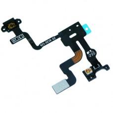 Шлейф верхний iPhone 4S: кнопка включения, датчик света, микрофон