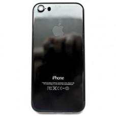 Корпус iPhone 5S в стиле iPhone 7 Jet Black Onyx глянцевый (черный оникс)