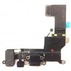 Шлейф зарядки iPhone 5s черный