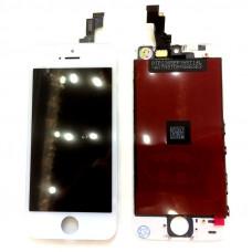 Дисплей iPhone 5S белый (модуль, в сборе, OEM)