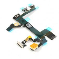 Шлейф боковой iPhone 5S: кнопка включения, кнопки громкости, микрофон, вспышка