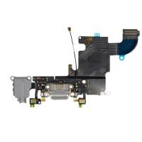 Шлейф нижний iPhone 6S: разъем зарядки (черный) с аудио разъемом и микрофоном