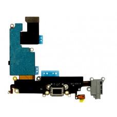 Шлейф нижний с разъемом зарядки (черный) и аудио iPhone 6S Plus
