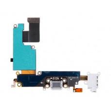 Шлейф нижний с разъемом зарядки (белый) и аудио iPhone 6S Plus