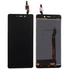 Дисплей Xiaomi Redmi 4 черный (модуль в сборе с тачскрином)