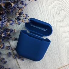 Чехол AirPods темно-синий силикон