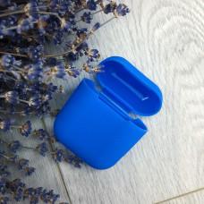 Чехол AirPods синий силикон