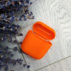 Чехол AirPods оранжевый силикон