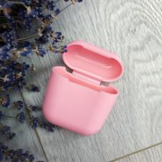 Чехол AirPods розовый силикон