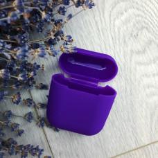 Чехол AirPods фиолетовый силикон
