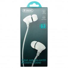 Наушники с микрофоном CELEBRAT G3 белые