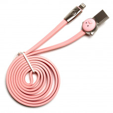 Кабель ROCK Space Pig Cable USB – Lightning розовый
