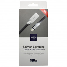 Кабель ROCK RCB0553 Salmon Lightning to USB (2.1A)