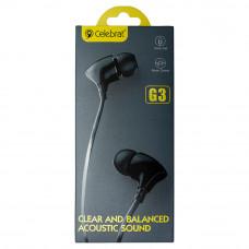 Наушники с микрофоном CELEBRAT G3 черные