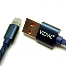 Кабель USB VIDVIE CB422V iPhone Lightning 8 Pin синий
