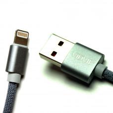 Кабель USB VIDVIE CB422V iPhone Lightning 8 Pin серый