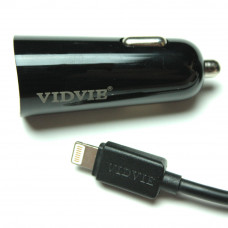 Автомобильное зарядное устройство VIDVIE CC505 2xUSB и кабель iPhone