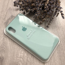 Чехол iPhone X Silicone Case «зелёная лагуна»