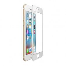 Защитное стекло iPhone 6 Plus / 6S Plus 3D/5D с белой рамкой