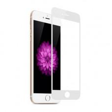 Защитное стекло iPhone 7 Plus / 8 Plus 3D/5D с белой рамкой