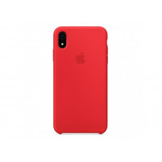 Чехол iPhone XS MAX Silicone Case красный