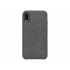 Чехол iPhone XS Max тканевый светлый