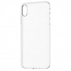 Чехол iPhone XS силиконовый прозрачный