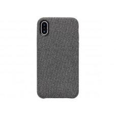 Чехол iPhone XS тканевый темный