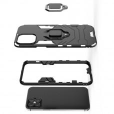 Чехол противоударный черный iPhone 12 Pro Max с кольцом