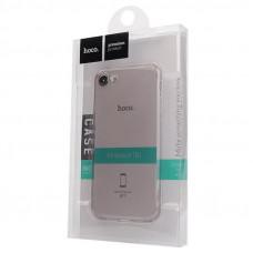 Чехол iPhone 7/8, прозрачный темный силикон HOCO