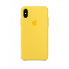 Чехол iPhone X Silicone Case желтый