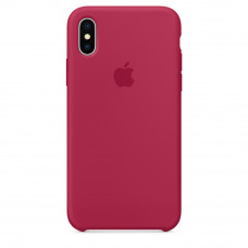 Чехол iPhone X Silicone Case малиновый