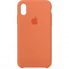 Чехол iPhone X Silicone Case оранжевый