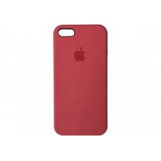Чехол iPhone 5S/SE Silicone Case бордовый