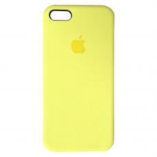 Чехол iPhone 5S/SE Silicone Case желтый яркий
