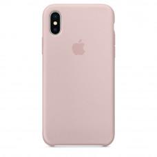 Силиконовый чехол iPhone X/XS розовый