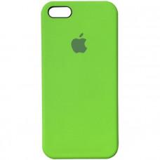 Чехол iPhone 5S/SE Silicone Case салатовый