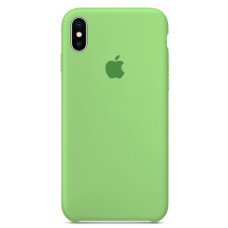 Чехол iPhone X Silicone Case зеленый