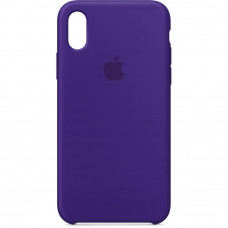 Чехол iPhone X/XS Silicone Case фиолетовый