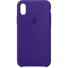 Чехол iPhone X Silicone Case фиолетовый