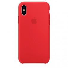 Чехол iPhone X Silicone Case красный