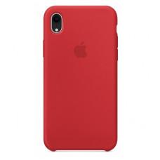 Чехол iPhone XR Silicone Case красный