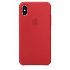 Чехол iPhone X/XS Silicone Case красный Full