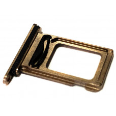 Лоток сим (2-SIM) карты iPhone 11 Pro MAX золотой