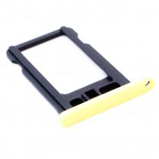 Лоток сим (SIM) карты iPhone 5С желтый