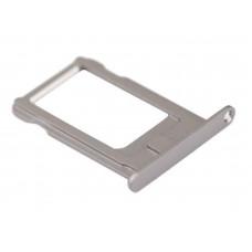 Лоток сим (SIM) карты iPhone 5S/SE белый/серебристый