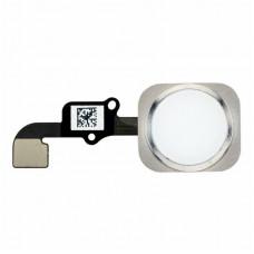 Кнопка HOME iPhone 6/6 Plus белая (серебро)