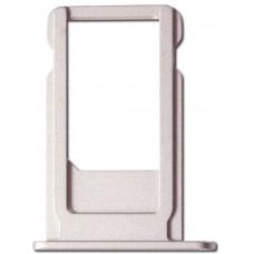 Лоток сим (SIM) карты iPhone 6 Plus белый/серебристый